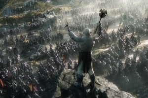 Army of Orcs heading into battle