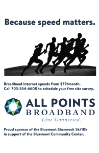 Designed for All Points Broadband for 5K races
